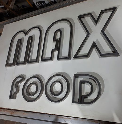 تابلو استیل max food
