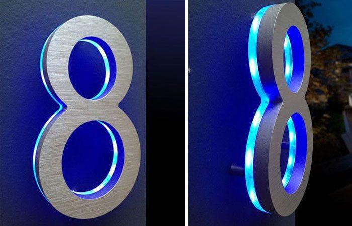 تابلو راهنمای دیواری پلاک استیل نور متمرکز با پایه