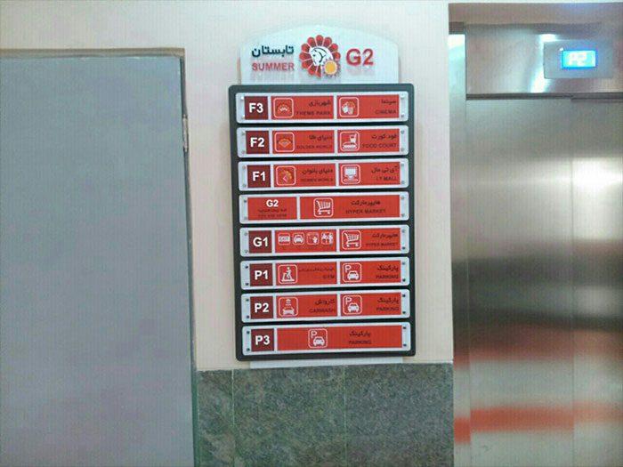 تابلو راهنمای طبقات مرکز تجاری و هایپر مارکت