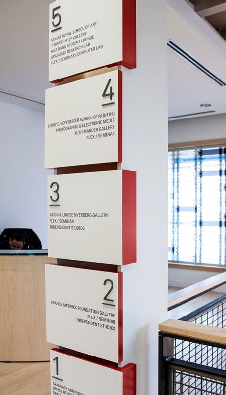 تابلو راهنمای طبقات روی ستون