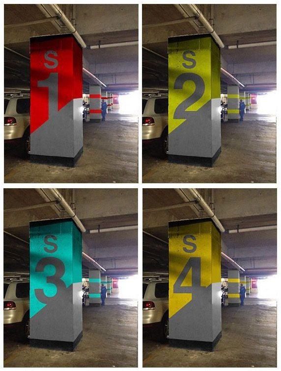 تابلو راهنمای طبقات پارکینگ مجتمع و ساختمان