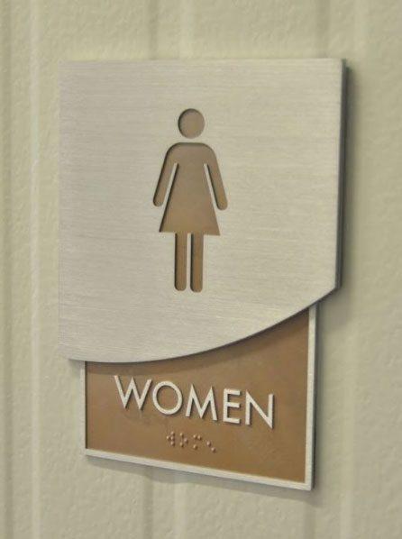 تابلو پشت در سرویس بهداشتی