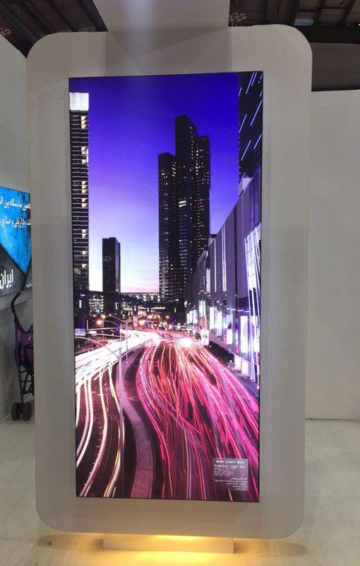 لایت باکس فریم لس پارچه ای نمایشگاه بین المللی