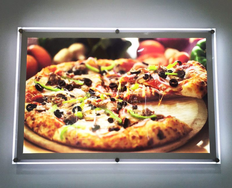 لایت باکس کریستالی پیتزا
