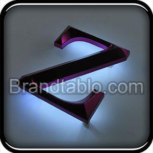 حروف برجسته سه بعدی نور مخفی a