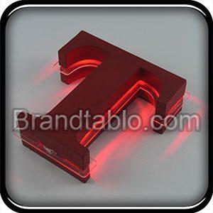 حروف برجسته فلزی دو لایه نور میانی a