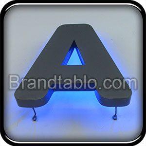 حروف برجسته فلزی نوراندریک b