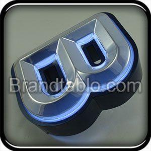 حروف برجسته فلز وکیوم آبکاری با قابلیت عبور نور a