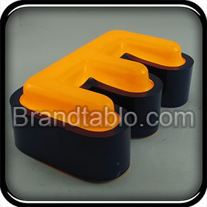 حروف برجسته فلز وکیوم ساده 1 a
