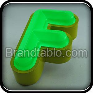 حروف برجسته فلز وکیوم ساده (2) a