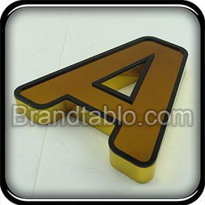 حروف برجسته لبه سوئدی طلایی استروک b
