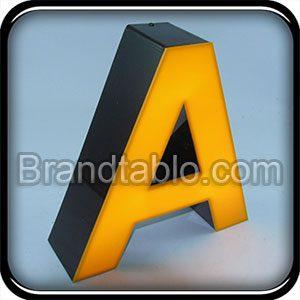 حروف برجسته لبه سوئدی مشکی a