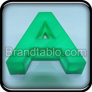 حروف برجسته پلاستیک لبه هندی سبز