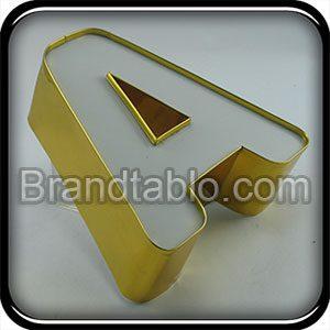 حروف برجسته چلنیوم ساده لبه طلایی 1 b