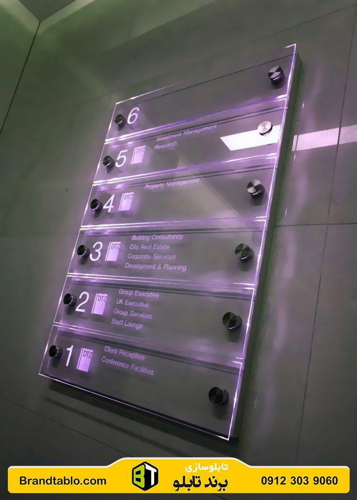 تابلو راهنمای طبقات نورانی