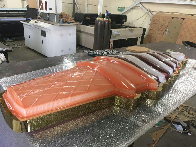 بستنی وکیوم با فیکسه کاری از روی کار و نور از داخل