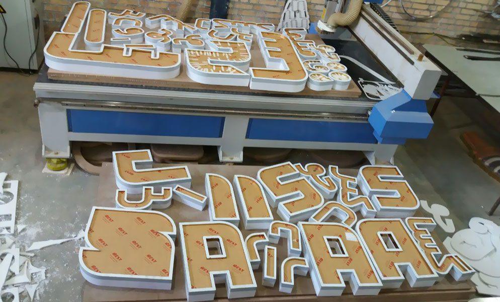 حروف برجسته ترکیبی پلاستیک با رینگ استیل