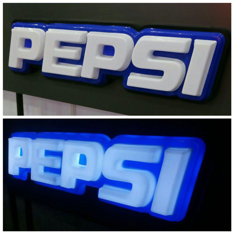 لوگوتایپ پپسی وکیوم دوبل مونتاژ شده با رینگ فلز