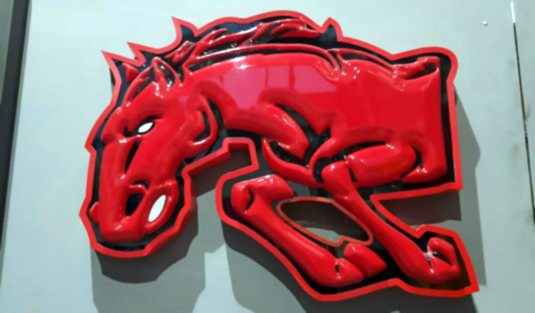 لوگوی وکیوم سه بعدی اسب