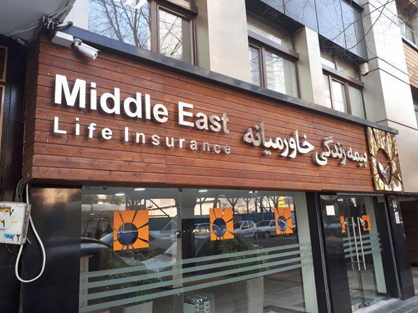 تابلو ترموود بیمه زندگی خاور میانه