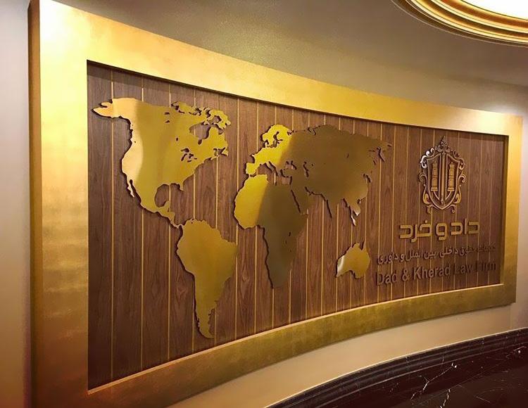 تابلو استیل نقشه جهان