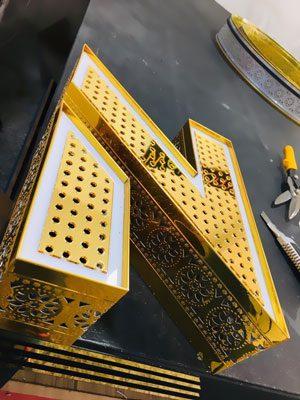 چلنیوم طرح سنتی با پلکسی پانچ طلایی